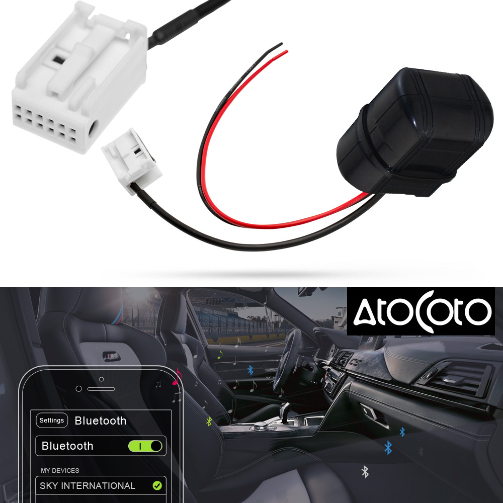 US $19 37 43% OFF|AtoCoto Car Bluetooth Module AUX Adapter Cable for BMW  Mini E39 E53 X5 X3 E60 E85 Radio Navigation System Wireless Audio Input-in