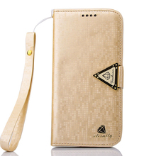 1pc Luxury Leather Flip Stand Wallet Cover For Samsung Galaxy S6 Edge Foldable Protective Case MOBILE