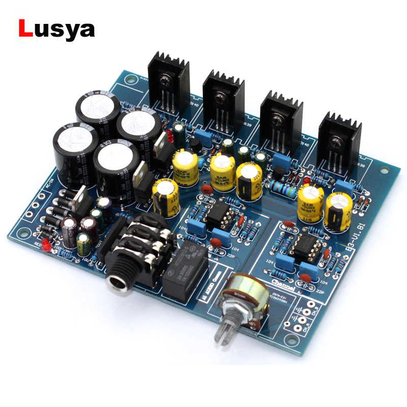Headphone Amplifier Board NE5532 BD139 BD140 for 32-600 Ohm Speaker AC 12V-0-12V or AC15V-0-AC15V Headphone Amplificador