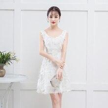 Bridemaid Dress White Color Mini  Women Wedding Party
