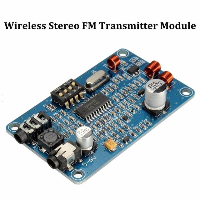 BH1417 200 M 0.5 W Estação de Rádio Digital PLL FM Estéreo Transmissor Sem Fio Módulo Frete Grátis