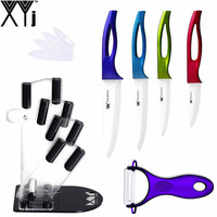 Hot Sales Mutli Color Handle Ceramic Knives XYJ Brand Kitchen Knife Peeler Knife Stand Ceramic Kitchen