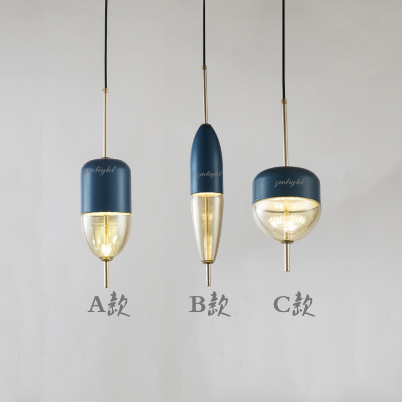 Image 3 - Simple modern glass ball pendant light LED E27 art deco Europe hanging lamp with 8 styles for bedroom restaurant kitchen parlor-in Pendant Lights from Lights & Lighting