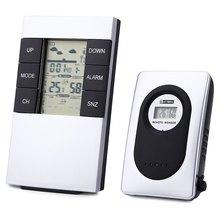Big discount LED Digital Weather Station Wireless Indoor Outdoor Alarm Clock Thermometer Humidity Meter Wireless Sensor Hygrometer Clock