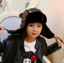 6af34c63b8a Lovely Parents Hats Baby Caps Kids Aviator Hat Bomber Winter Cap Children  Masks Warm All For