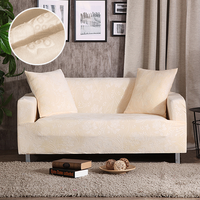 Velvet fabric emboss Embroidered Sofa cover luxury slipcovers universal stretch Big Elastic seat Couch covers <font><b>Loveseat</b></font> Funiture