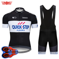 2018 TEAM QUICK STEP Cycling Jersey Bike Shorts Set Quick Dry Ropa Ciclismo Mens Breathable Bicycle