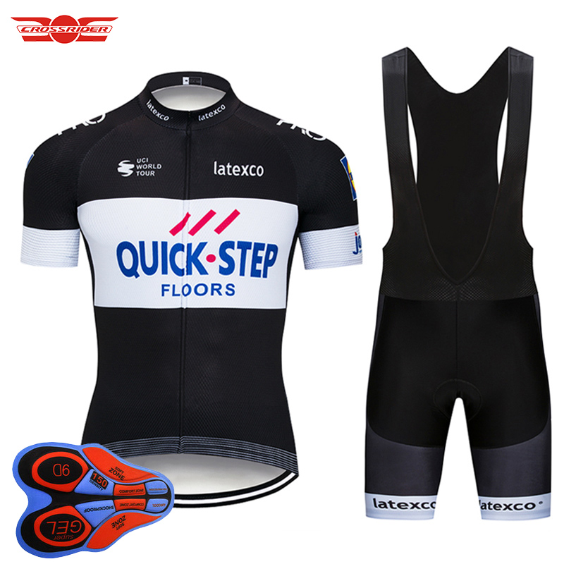 2018 TEAM QUICK STEP Cycling Jersey Bike Shorts set Quick Dry Ropa Ciclismo Mens Breathable Bicycle clothing pro Cycling wear