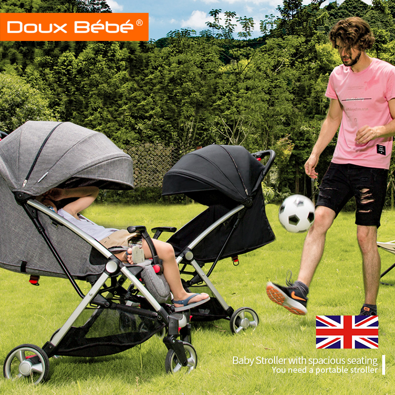 Doux bebe Baby carriage Lightweight Baby Buggy Four Wheels baby Stroller Folding Travel System Prams for Newborn kidstravel
