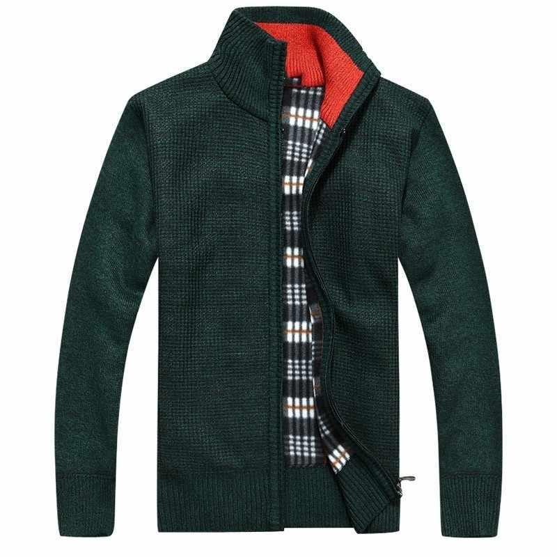 2018 Зима Осень Новый мужской толстый свитер мужской Slim Fit флисовые свитера пальто Верхняя одежда сплошной цвет свитер куртка M-3XL