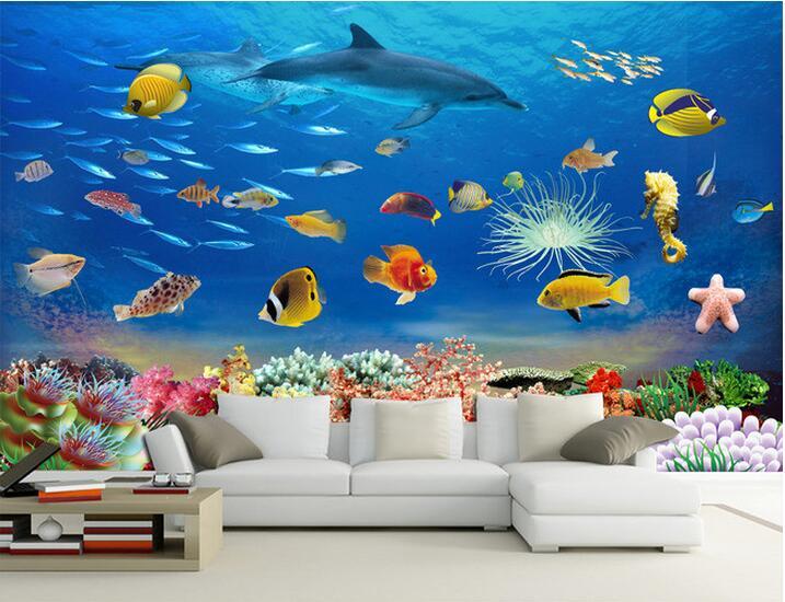 Behang Kinderkamer Vissen : 3d behang custom muurschildering non woven 3d kamer behang