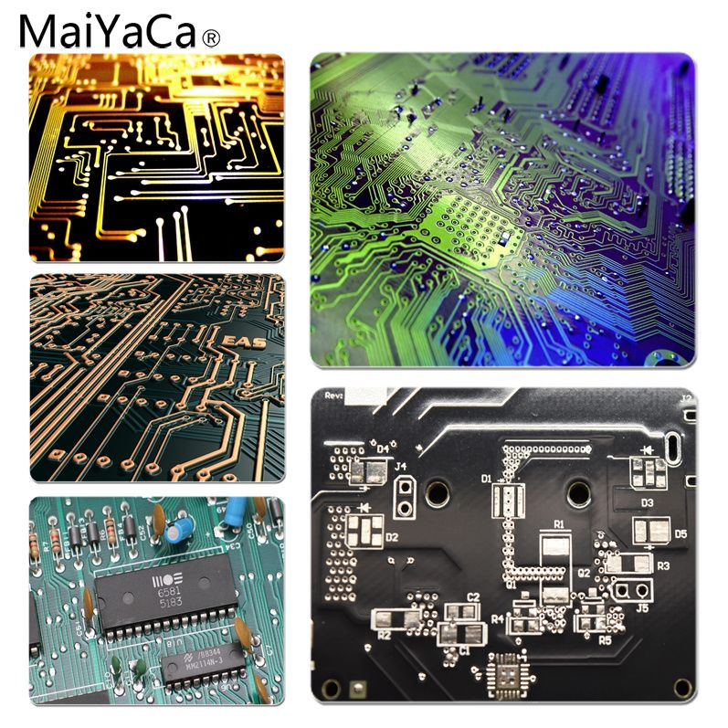 MaiYaCa High Quality PCB Circuits Customized laptop Gaming mouse pad Size for 180x220x2mm and 250x290x2mm Small Mousepad