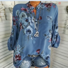 ZOGAA Women Blouses 2019 Fashion Stand Collar Office Chiffon Blouse Shirt Flower Print Casual Tops Plus Size Blusas Femininas stand collar plus size 3d flower and leopard print jacket
