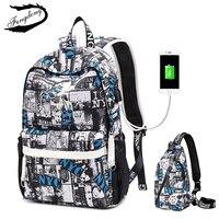 Fengdong Brand Oxford Cloth Student Bag Men Backpack Middle School Korean Character 15 Inch Bag Travel