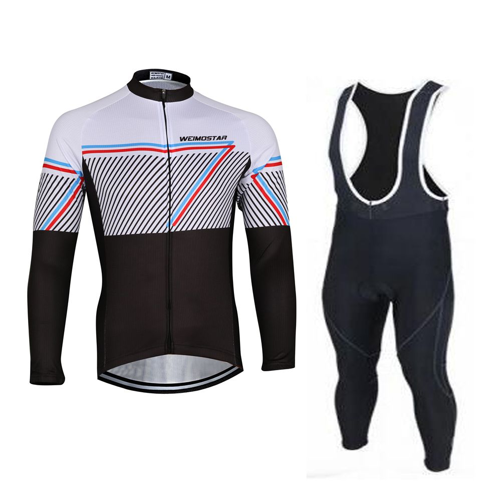 WEIMOSTAR Spring Autumn Outdoor Team Bike Cycling Jersey Bike Bib Pants Suit Maillot Cycling Clothing/Bicycle Wear Ropa Ciclismo