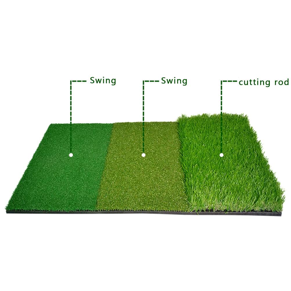 40 * 60CM Golf Hitting Mat Indoor Outdoor Tri-Turf Golf Mat With Tees Hole Practice Golf Mat Protable Golf Training Aids