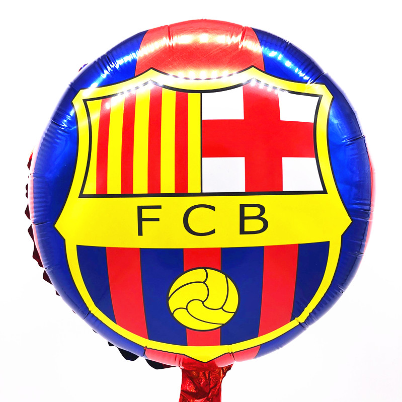 18inch  Champions League Club Barcelona Aluminium Foil Balloon FCB Team Helium Balloon Barca Soccer Fans Celebration Balloons