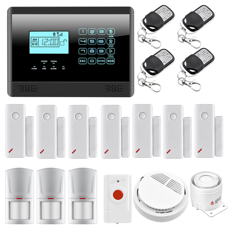 Wireless GSM Alarm System Home Emergency Alert Security Alarm System with Two Relay Output 433MHz Sensors Smoke Detector wireless smoke fire detector for wireless for touch keypad panel wifi gsm home security burglar voice alarm system