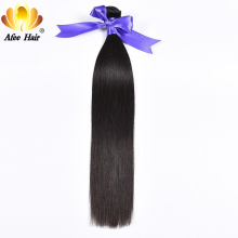 Ali Afee Brazilian Straight Human Hair 1Pc Only Natural Black Hair Weave Bundles 8''-30'' Can Be Dyed And Bleached Free Shipping