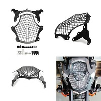 For KTM 1190 Adventure 1190 R 1290 Super Adventure SA Front Lamp Headlight Guard Protector Cover Stainless Steel