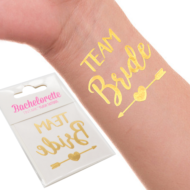 184a04a28320e 10PCS/LOT Bride Tribe Temporary Tattoos Stickers Bachelorette Party Team  Bride Flash Tattoo Bridesmaid Party Wedding Party Favor