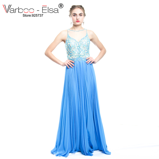 VARBOO_ELSA robe de soiree Crystal Beading Luxury Evening Cress ...