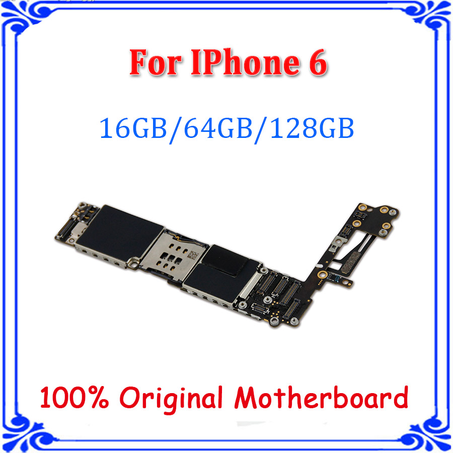Board For IPhone 6 4.7inch 128GB 16G 32G 64G No Touch ID Without Fingerprint Unlocked Original Logic Chips Motherboard Plate