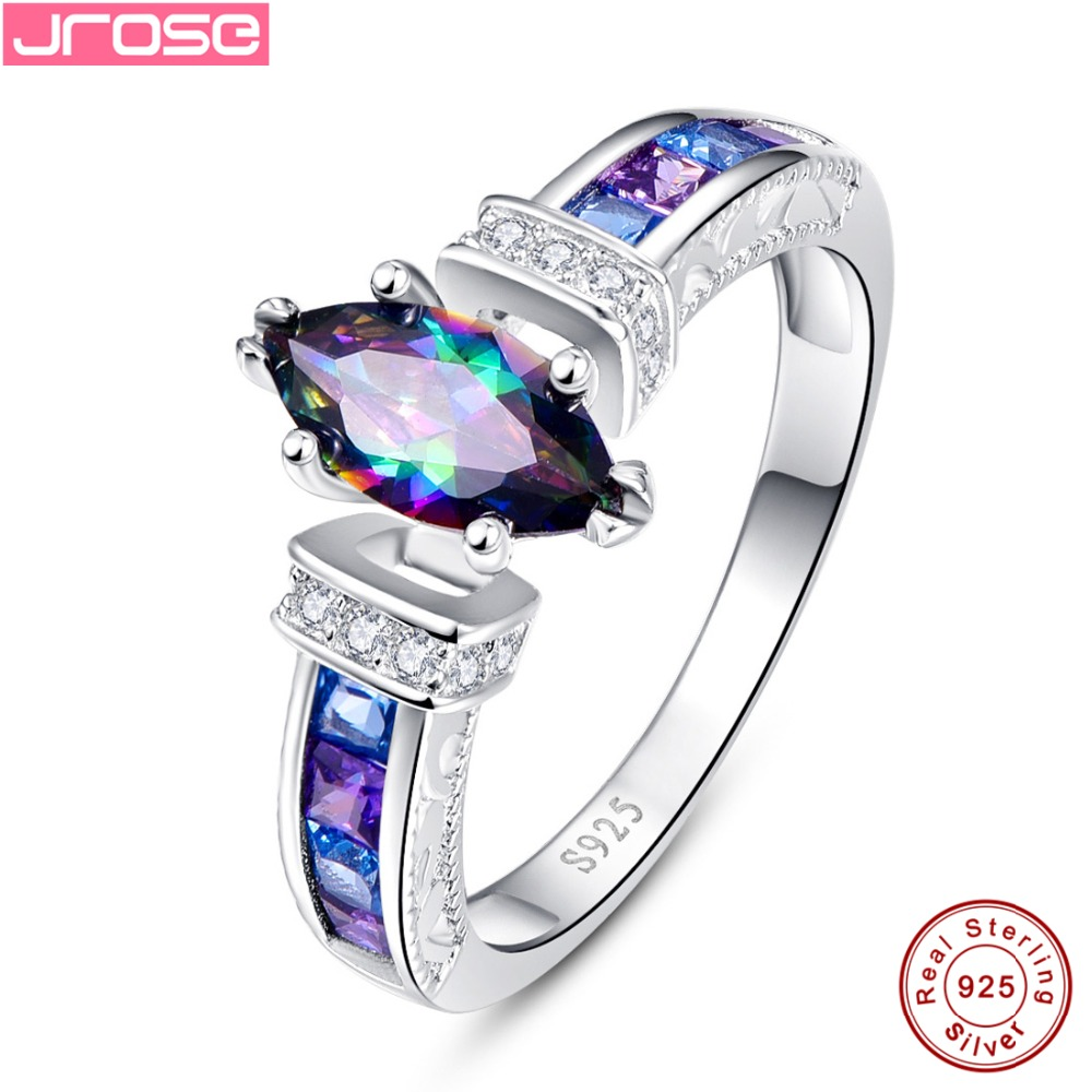 carat ring noble rings image sterling in mystic topaz rainbow fire product solid crafted silver products