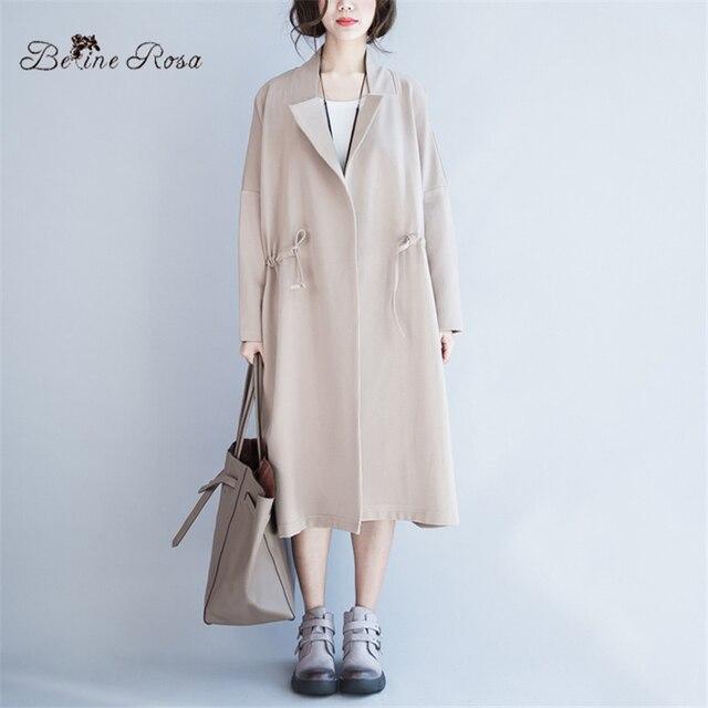 2016 Высокое Качество женские Пальто Плюс Размер Простой Стиль Casual Бизнес Зима Хлопок Пальто для Женщин (BelineRosa HS0104)
