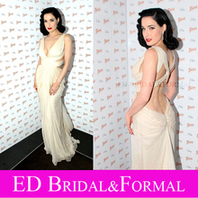 Dita Von Teese Kleid Elfenbein Roten Teppichs der Berühmtheit Prom Formal Abendkleid