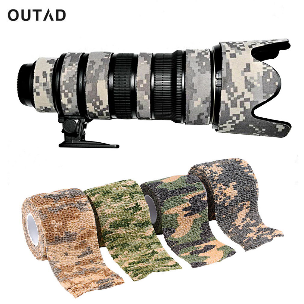 Elastic Camouflage Wrap Tape Bandage Waterproof Outdoor Hunt Camping Stealth Camo Military Airsoft Paintball Stretch Bandage