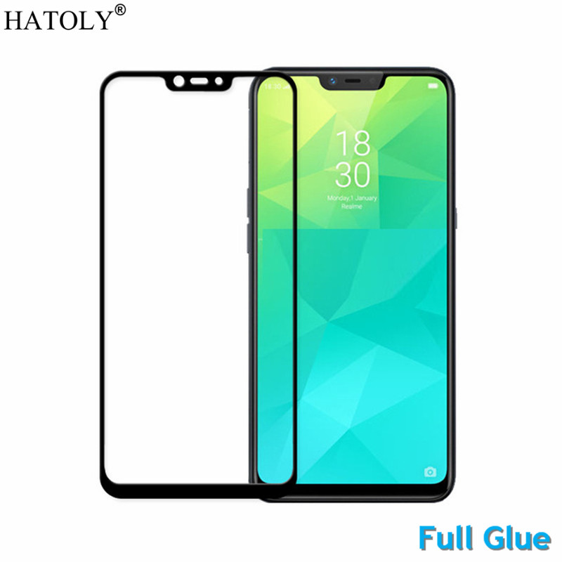Full Glue Tempered Glass For OPPO Realme 2 Screen Protector for OPPO Realme C1 Full Cover OPPO Realme 2 Dust Proof Film HATOLY