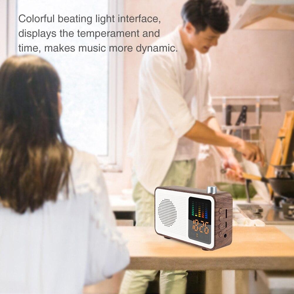 Multipurpose Decoration USB Charging Alarm Clock Modern Stereo Home Digital Bedroom Bluetooth Speaker Music FM Radio Wireless(China)
