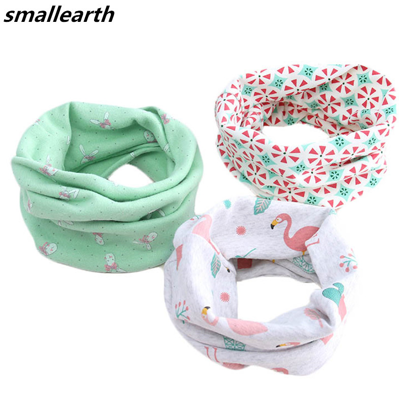 Cotton Baby Scarf 40*20cm Fashion Winter Children Scarves Baby Neck Collars Girls O Ring Scarf Spring Autumn Kids Boys Scarf