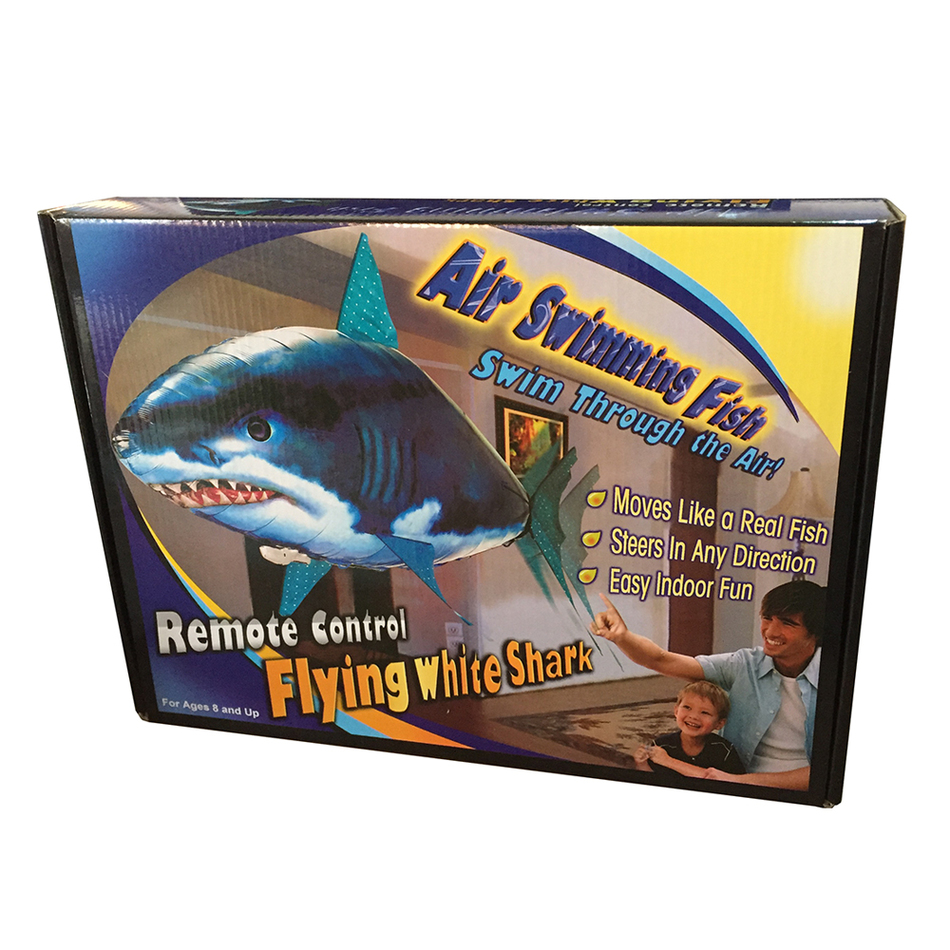 1 pcs air swimmers remote control flying fish blue electric rc animals shark fish shape inflatable