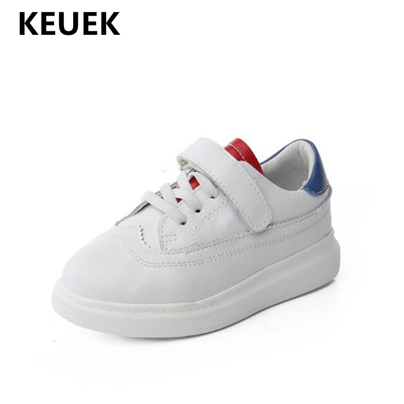 New Children Flats Genuine Leather White Sneakers Boys Shoes Girls Casual Toddler Sports Shoes Student Baby Kids Shoes 02
