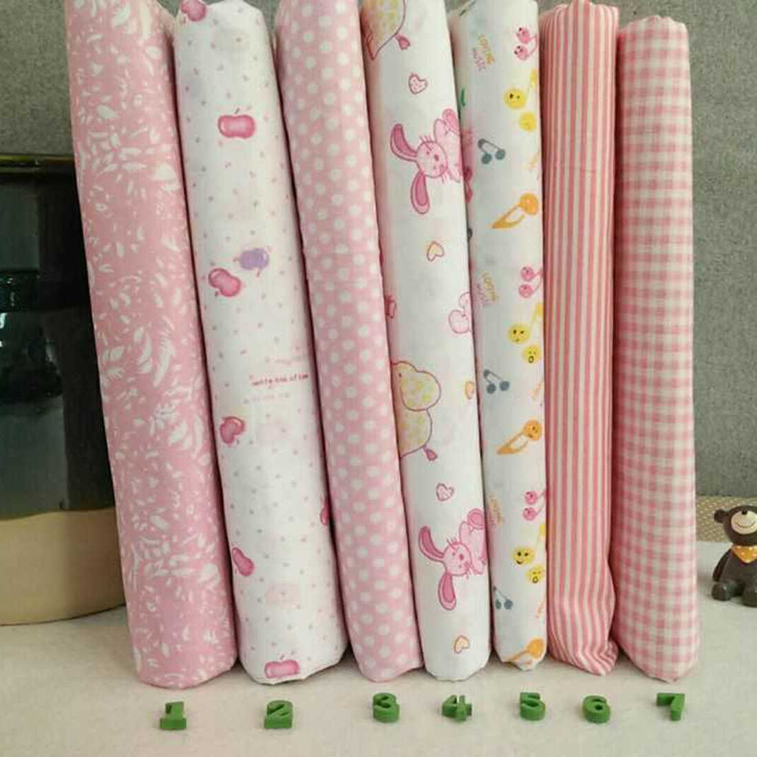 New 2018 Super Soft Felt Fabric 7Pcs/set Mixed Cotton Fabric For Patchwork Cloth DIY Handmade Sewing Home Decoration 6 pattern