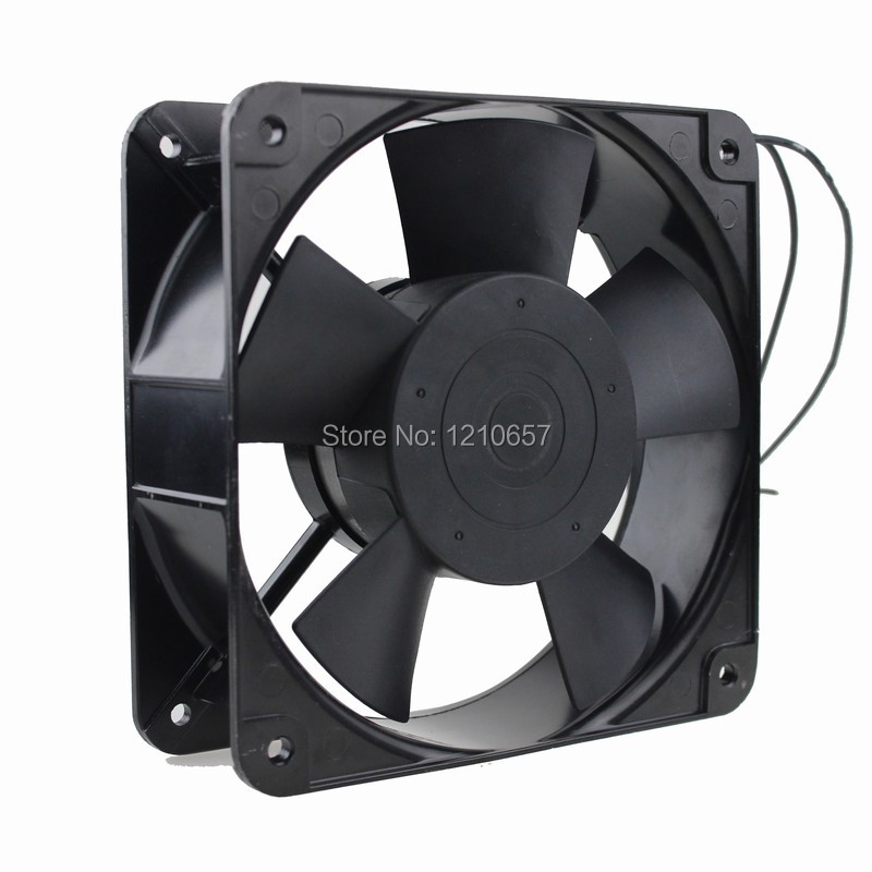 2PCS Lot Gdstime Ball 220V 240V 2Pin AC Axial Cooling Fan 180mm x 60mm High Airflow 220v ac 280x280x80mm axial radiator fan 1341cfm 2400rpm ball bearing high speed