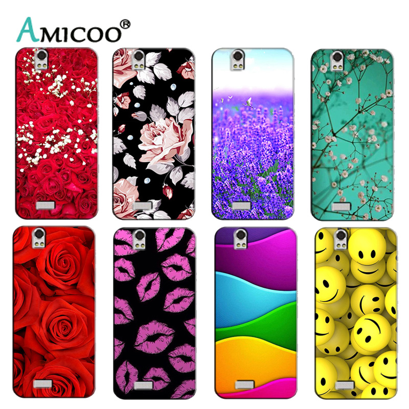 Soft Silicon Phone Cover Case for Fly IQ4503 ERA Life 6 Quad Cases Printed Back Shell Protector Funda Capa Colorful Flower