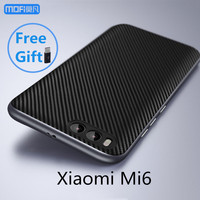 Mi6 Case Xiaomi Mi6 Cover MOFi Original Black Xiami Mi6 Back Case Carbon Fiber Joint Capa