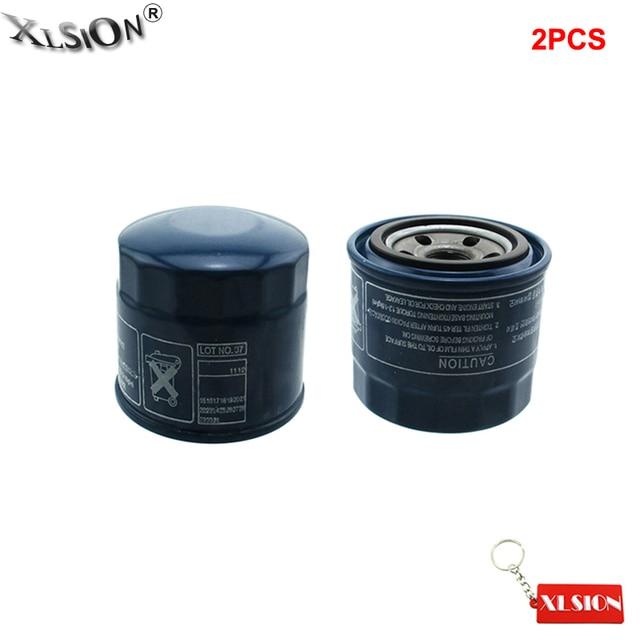 Xlsion Aftermarket 2pcs Oil Filter 26300 35500 Fits 1986 2017 Hyundai Accent Elantra Sonata