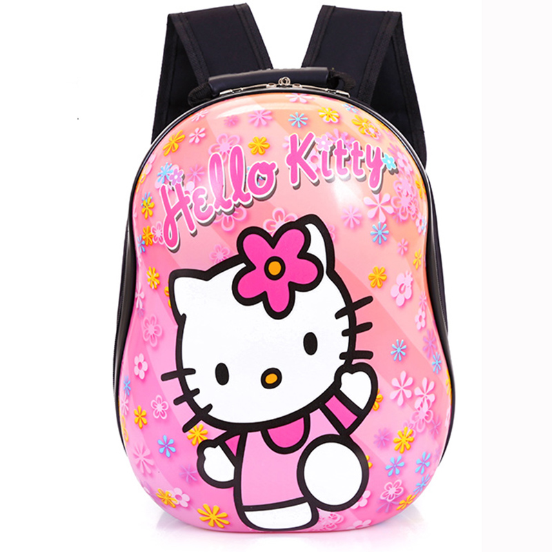 Children Backpacks Kindergarten School Bag Hard Shell Bag Kids Small Back Pack Car Mickey Princess Hello Kitty Backpack