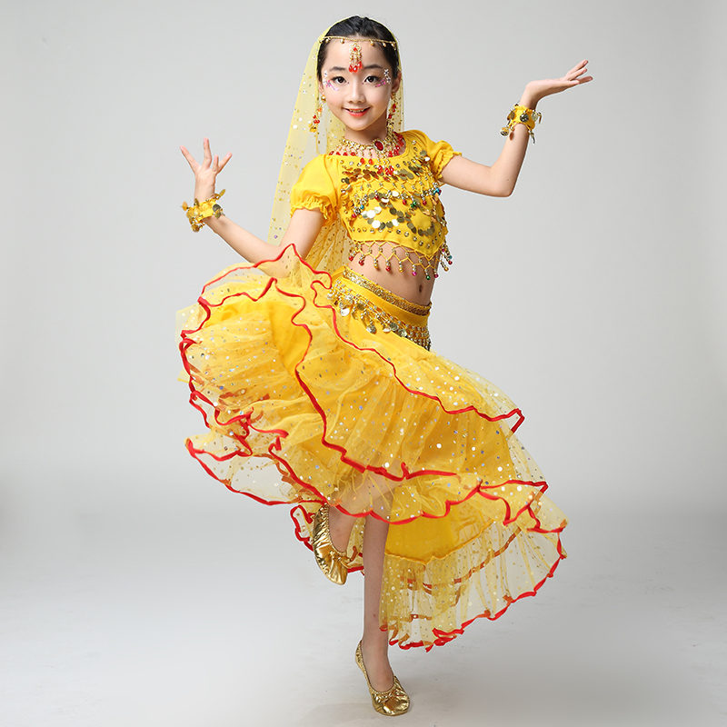 a587c8165 Dropwow Quality Indian Sari Girls Dress Orientale Enfant Indian ...