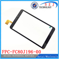 "New 8"" inch FPC-FC80J196-00 With Speaker hole Tablet Touch screen Panel Digitizer Glass Sensor replacement Free shipping 10pcs"