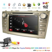 For TOYOTA Camry 2007 2008 2009 2010 2011 8 inch Indash CAR DVD Player GPS Navigation Navi DAB+ TPMS Bluetooth HD Touch CAM MAP