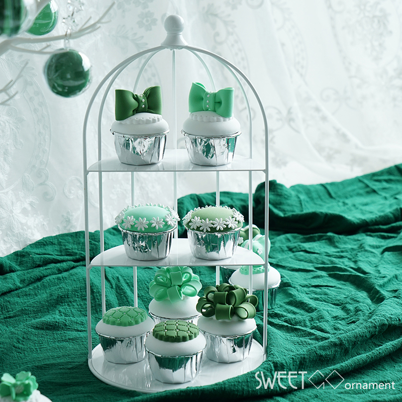 SWEETGO Birdcage cupcake stand decorating tools wedding dessert table supplier create able ornament party decoration cake