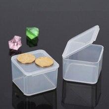 Transparente Kunststoff Kleine Platz Boxen Verpackung Lagerung Box Mit Deckel für Schmuck Lagerung Zubehör Finishing Container