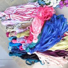 2 Packs (16-20 metre) çeşitli renkler elastik dantel şerit bant streç dantel süs dikiş iç çamaşırı konfeksiyon giyim aksesuarlar...