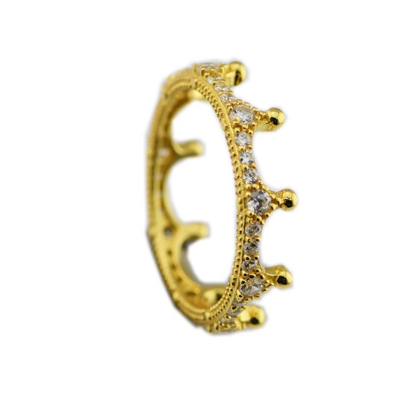 Кольцо Зачарованный Корона кольцо для Для женщин Для мужчин Анель Feminino 100% 925 ювелирные изделия стерлингового серебра Anillos Свадебные