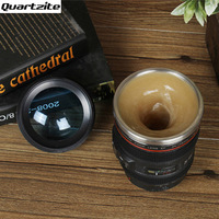 Electric Stirring Mixing Coffee Tea Cup Lens Camera Cup Lazy Self Automatic Stirring Mug Button Pressing